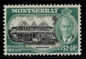 MONTSERRAT GVI SG134, $2.40 black & green, M MINT. Cat £18.
