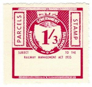 (I.B) Australia - Tasmania Railways : Parcels Stamp 1/3d