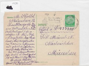 German Postal History Stamps Cover 1939 Ref 8744