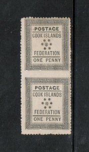 Cook Islands #5a (SG #1a) Mint Imperf Pair Only Six Exist **With Certificate**