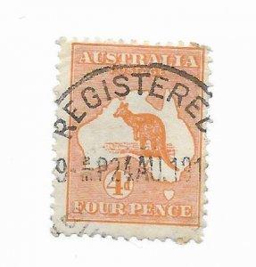 Australia #6 Used - Stamp - CAT VALUE $40.00