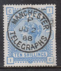 Great Britain #109 (SG #183) XF Used With Ideal Manchester JU 2 1888 Date Cancel