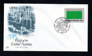 1989- United Nations- Libya- Flag series- First-Day Cover- FDC- September 22,