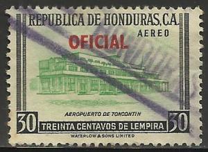 Honduras Air Mail Official 1956 Scott# CO81 Used