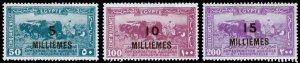 Egypt Scott 115-117 (1926) Mint H VF Complete Set, CV $7.50 C