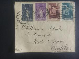1938 Metz  France CoverFront to Antibes # B44 B45 B71 B72