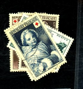 FRANCE #B255-7 264-6 USED VF Cat $20