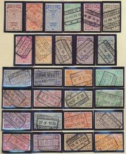 Belgium Stamp Scott #Q139//Q173, Used, 35 Different Parcel Post - Free U.S. S...