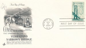 United States sc# 1258 FDC - Verrazano Narrows Bridge 1964 - Art Craft