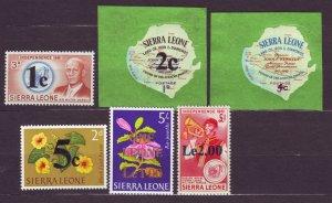 J22701 Jlstamps 1965 sierra leone set mnh #280-5 ovpt,s