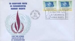 UN SLOGAN - REAFFIRM FAITH IN HUMAN RIGHTS '68