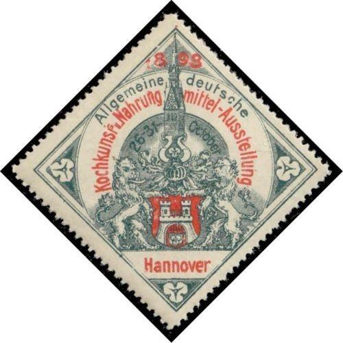 Germany 1898 Hannover Cooking/Food Expo Poster Stamp