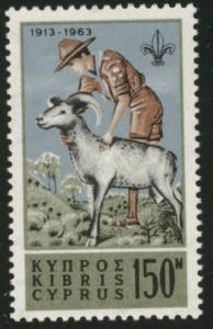 Cyprus Scott  226 MNH** 1963 scout stamp