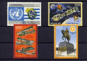 Uruguay 1975 SPACE APOLLO USA American Bicentennial set (4) Perforated mnh.vf