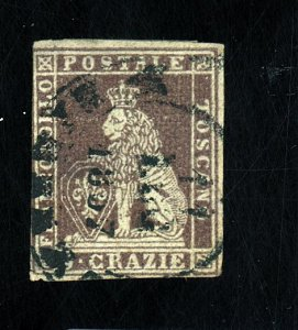 TUSCANY #8 USED F-VF SM THINS Cat $375