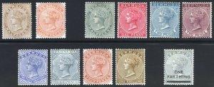 Bermuda 1880-1904 1/4d-1s Wmk CC&CA SG 19-30 Scott 16-26 LMM/MLH Cat £190($248)