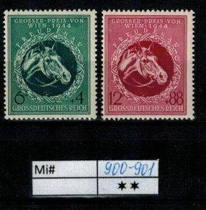 Deutschland Reich TR02 DR Mi 900-901 1940 Reich Postfrisch ** MNH