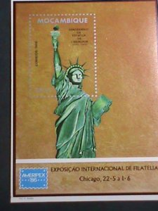 MOZAMBIQUE STAMP-1986  AMERIPEX'86 INTERNATIONAL STAMP SHOW- CHICAGO S/S SHEET