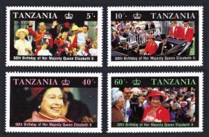 Tanzania Queen Elizabeth II 60th Birthday 4v SG#517-520 SC#333-336