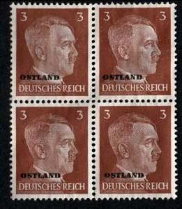 Stamp Germany Ostland Mi 02 Block 1941 WW2 War Party Reich Hitler Estonia MNH