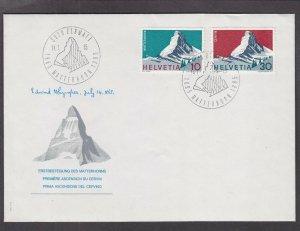 US 100th Anniversary of Matterhorn Ascent Dated 7-14-65 w/ Matterhorn Cancel