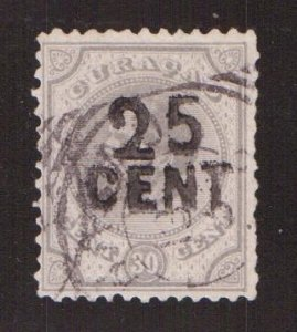 Netherlands Antilles  Curacao  #18   used  1891  William III  surcharge