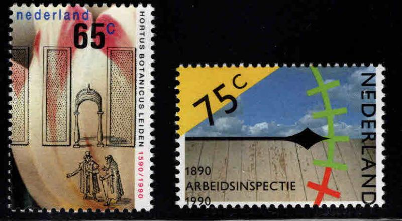 Netherlands Scott 752-753 MNH** 1990 set