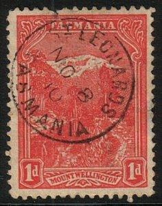 TASMANIA 1910 1d complete strike ST LEONARD'S cds..........................17414