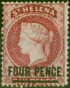 St Helena 1876 4d Carmine SG24 Fine Mtd Mint