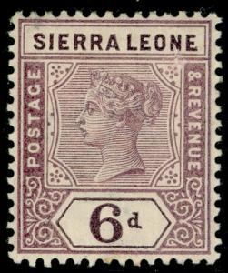 SIERRA LEONE SG49, 6d dull mauve, LH MINT.