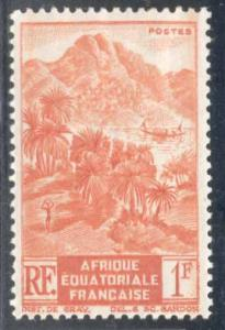 French Equatorial Africa ~ #172 ~ Mountainous Shore ~ MH