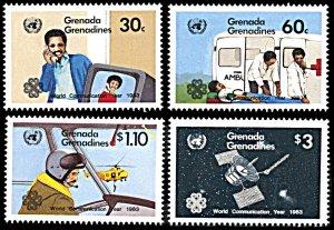 Grenada Grenadines 539-542, MNH, World Communications Year