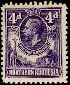 NORTHERN RHODESIA SG6, 4d violet, M MINT.