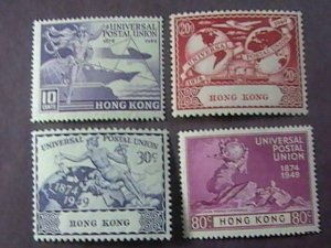 HONG KONG # 180-183--MINT/HINGED----COMPLETE SET--UPU--1949