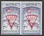 Ross Dependency L7 MNH Pair.  Map
