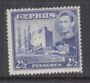 CYPRUS, 1938 KGVI 2 1/2pi. Ultramarine, lhm.