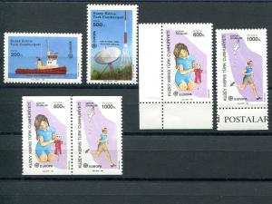 Turkey 1988 -1989 Europa sets VF NH - Lakeshore Philatelics