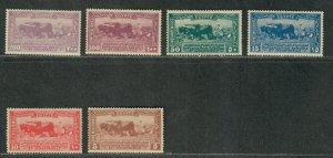 Egypt Sc#108-113 M/LH/VF, Cv. $77.35