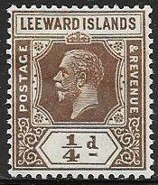 Leeward Islands 61 Unused/Hinged - George V