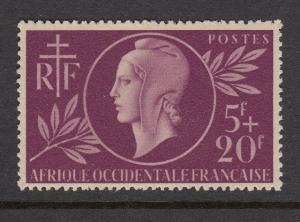 French West Africa B1 Red Cross mint
