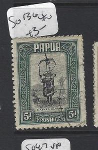 PAPUA (P1805B) CENT 5D  SG 136   VFU