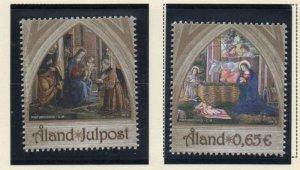 Aland Finland Sc 349-50 2013 Christmas stamp set mint NH
