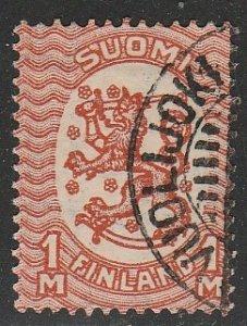 Finland #102 Used Single Stamp cv $24 (U2)