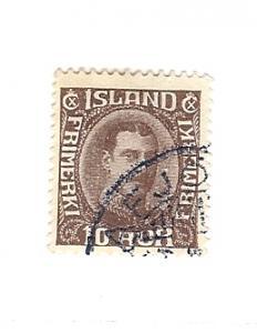 Iceland, 181, Christian X (Redrawn) Single, Used