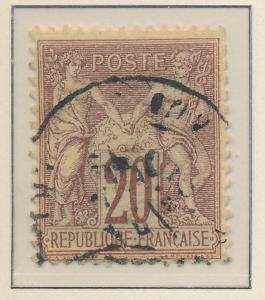 France Stamp Scott #70, Used - Free U.S. Shipping, Free Worldwide Shipping Ov...