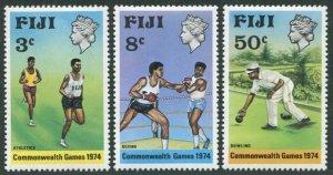 Fiji 341-343,MNH.Michel 314-316. Commonwealth Games 1974.Runners,Boxing,Bowling.