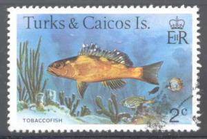Turks & Caicos ~ #361 ~ Tobacco Fish ~ Used