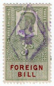 (I.B) George VI Revenue : Foreign Bill 3/-
