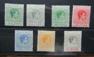 Bahamas 1938 - 52 values to 1s MM