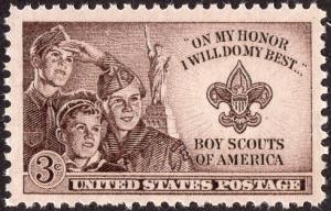 United States 995 - Mint-NH - 3c Boy Scouts (1950)